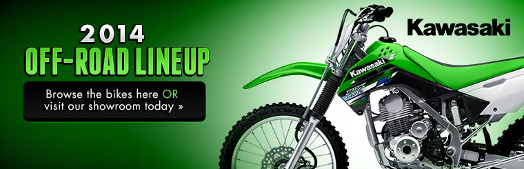 Click here to view the 2014 Kawasaki off-road lineup.