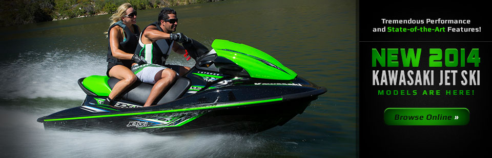 View the 2014 Kawasaki Jet Ski models.