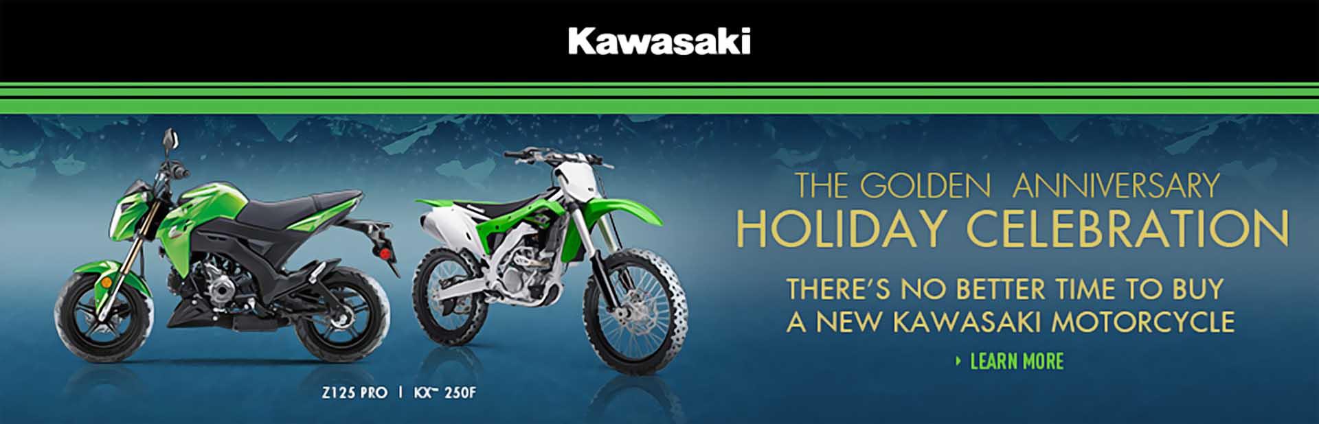 Kawasaki Golden Anniversary Holiday Celebration - Two Wheel