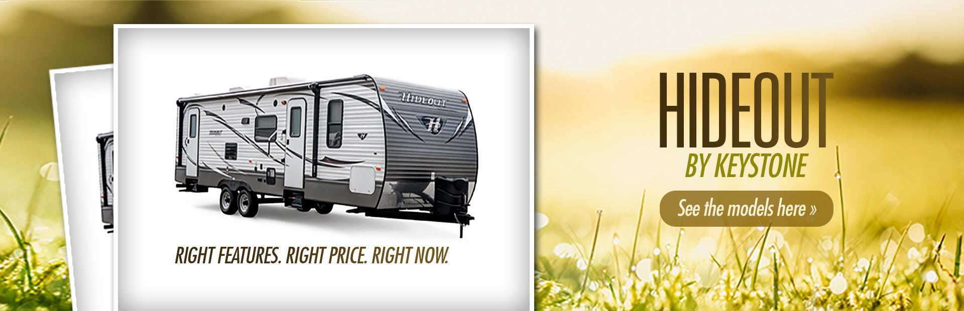 Hideout by Keystone: Click here to view the models.