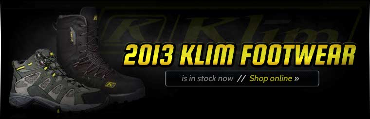 Click here to view the 2013 Klim footwear.