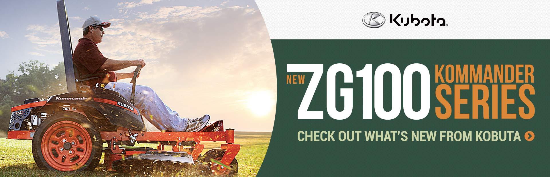 Click here to view the new Kubota ZG100 Kommander Series.