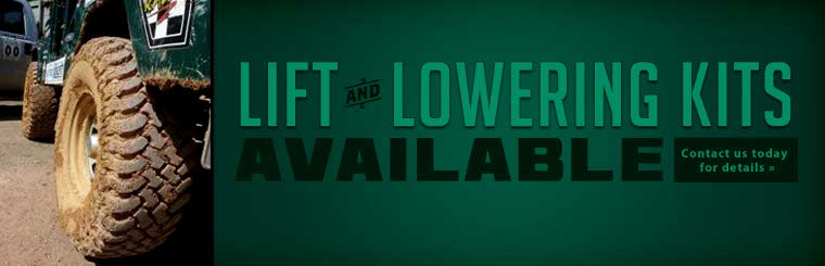 Lift and lowering kits are available! Contact us today for details.