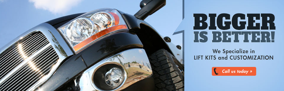 We specialize in lift kits and customization. Click here to contact us for information.
