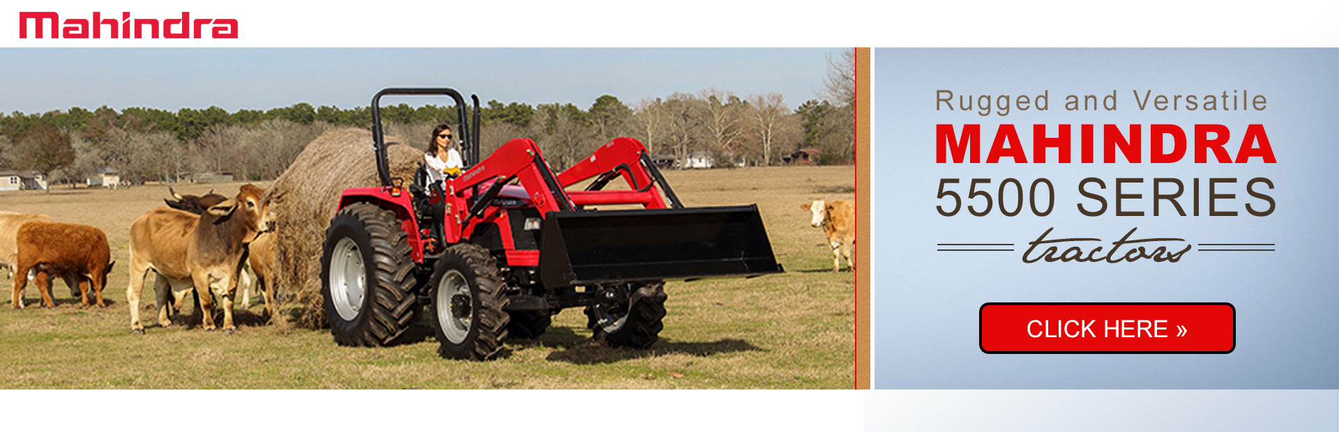 Click here to view our selection of Mahindra 5500 series tractors!