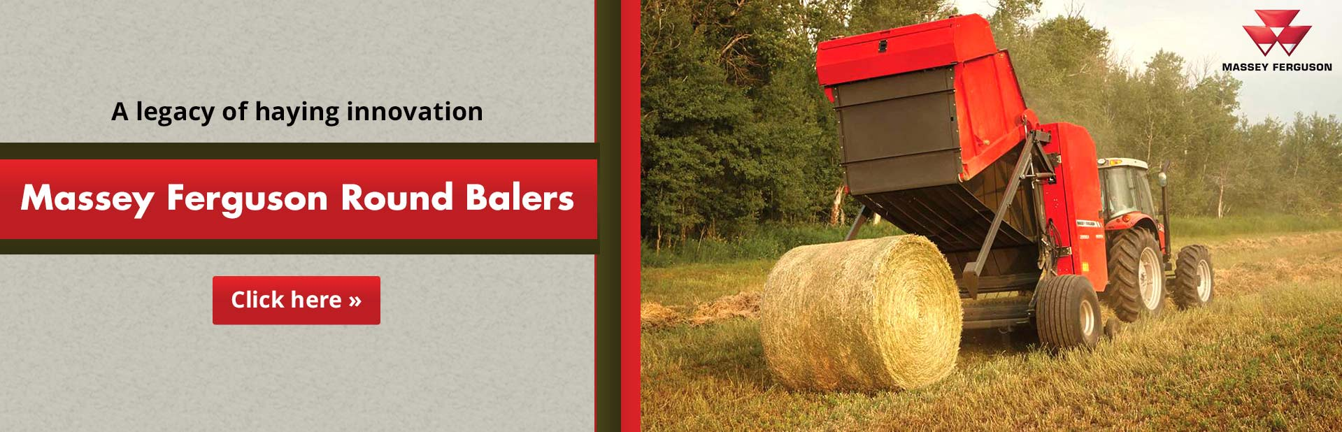 Click here to view our selection of Massey Ferguson round balers!