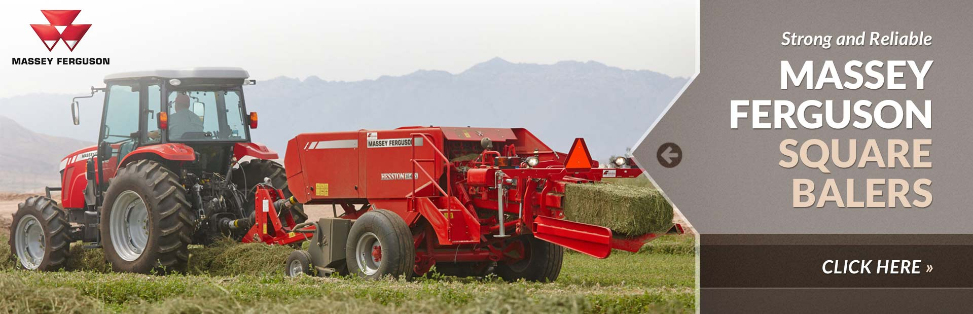 Massey Ferguson square balers are strong and reliable. Click here to view our selection.