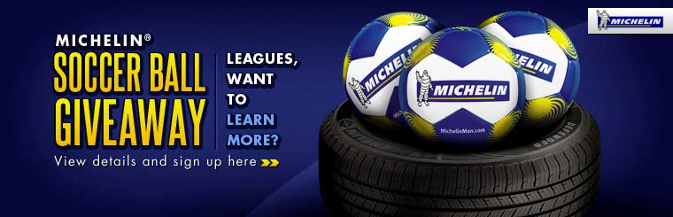 Michelin® Soccer Ball Giveaway: Click here for details.