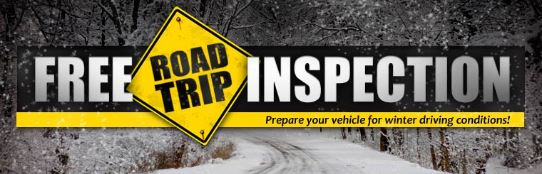 Get a free road trip inspection! Click here to request service online.
