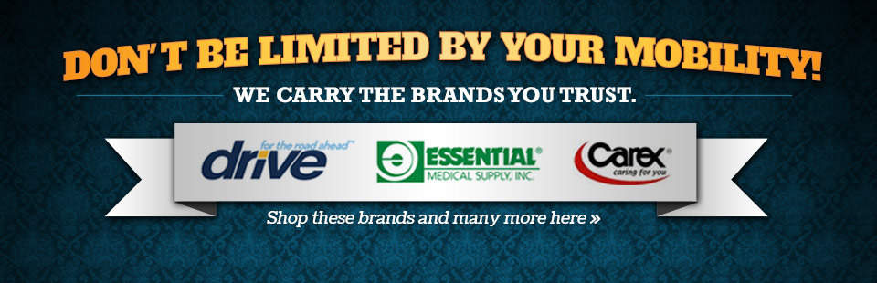 Click here to browse mobility aids from Drive, Essential Medical Supply, Carex, and more.