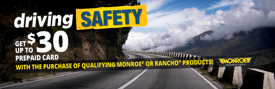 Monroe Driving Safety Offer: Contact us for details.