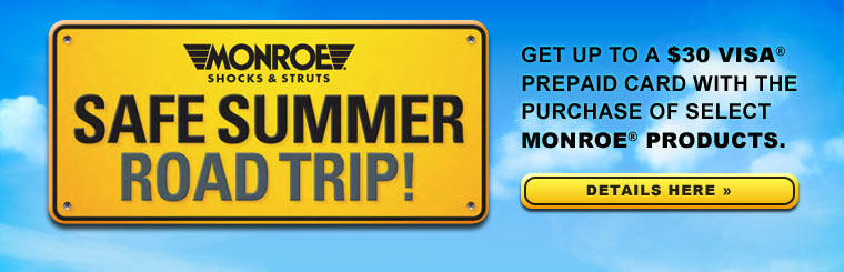 Monroe Safe Summer Road Trip Promotion: Click here for details.