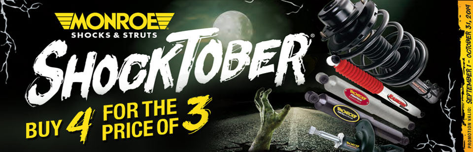 Monroe® Ride Control Shocktober® Consumer Offer: Click here for details.