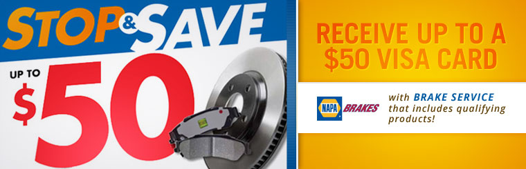 NAPA Stop & Save Offer: Contact us for details.