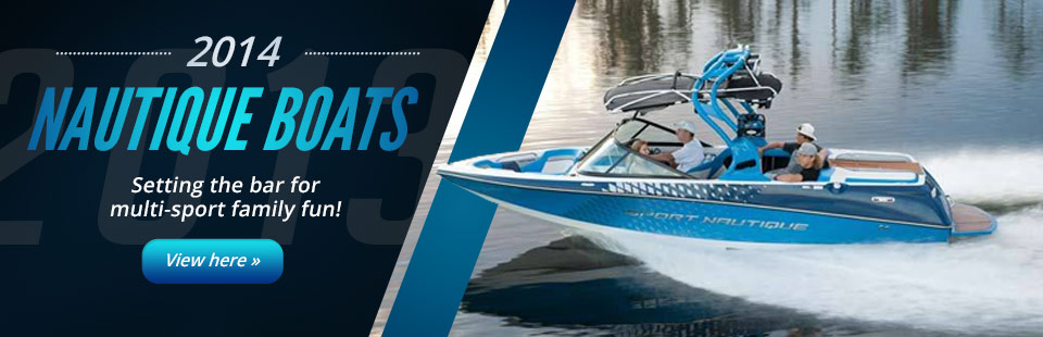 2014 Nautique Boats: Setting the bar for multi-sport family fun! Click here to view our selection.