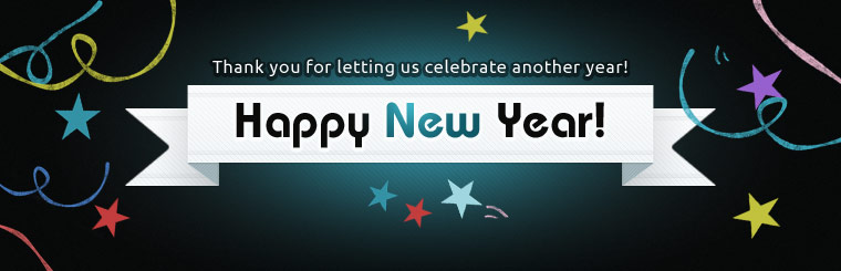 Happy New Year: Thank you for letting us celebrate another year!
