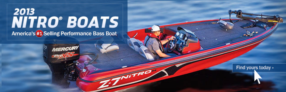 The 2013 Nitro® boats are America's #1 selling performance bass boat! Click here to find yours.