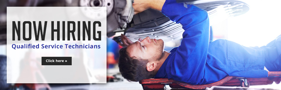 We are now hiring qualified service technicians! Click here to contact us for details.