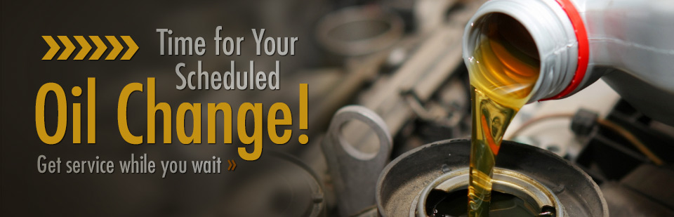 Time for Your Scheduled Oil Change: Get service while you wait.