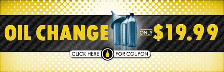 $19.99 Oil Change: Click here to print the coupon.