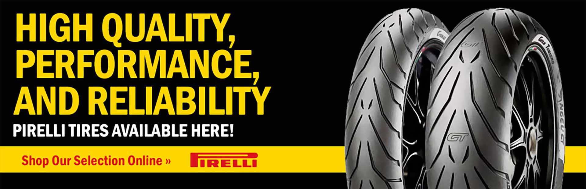 View Pirelli tires online.