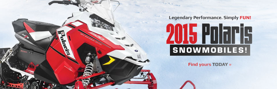 Click here to view the 2015 Polaris snowmobiles.