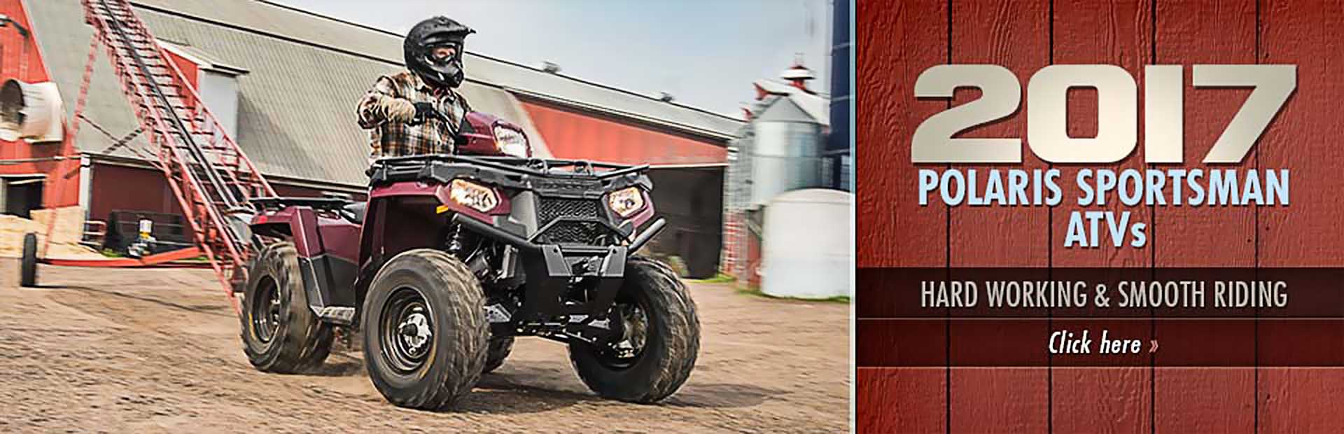 2017 Polaris Sportsman ATVs: Click here to view the models.
