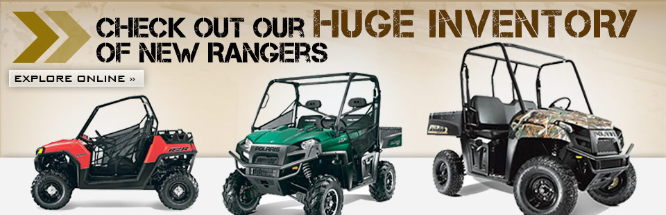 Click here to check out our huge inventory of new Polaris Rangers!