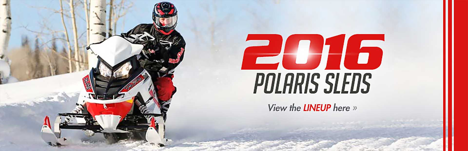 2016 Polaris Sleds: Click here to view the lineup.