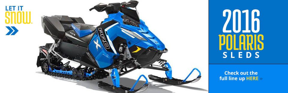 2016 Polaris Sleds: Click here to view the lineup!