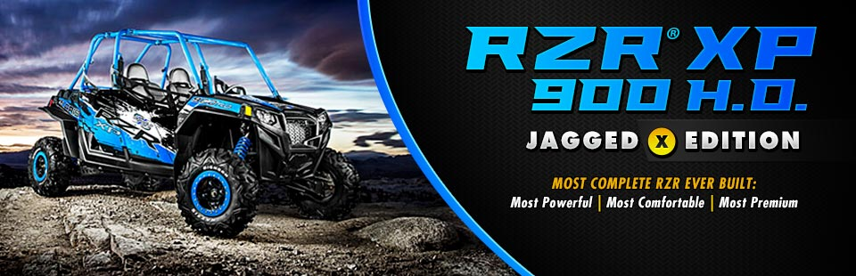Click here to view the Polaris RZR® XP 900 H.O. Jagged X Edition.