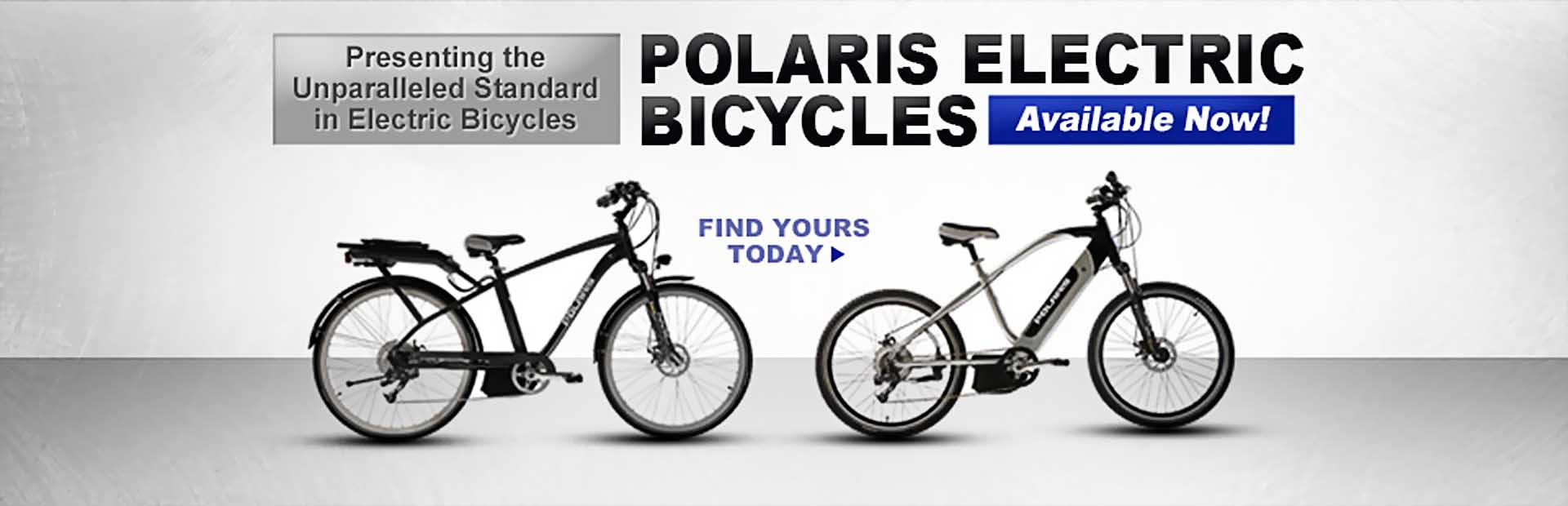 Polaris electric bicycles are available now!