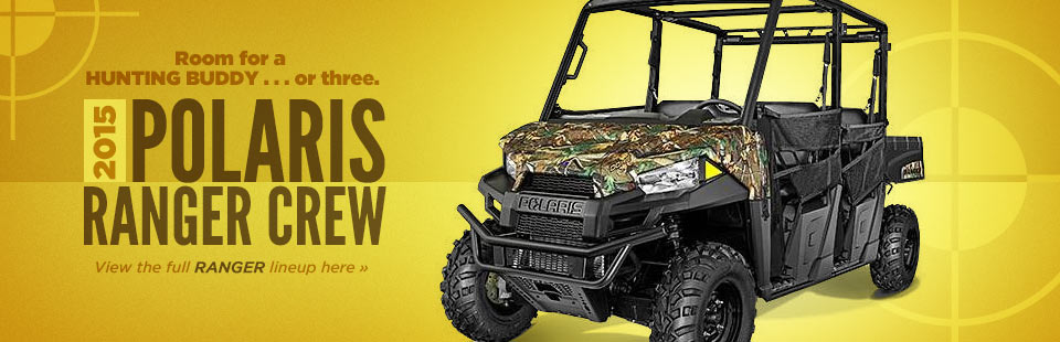2015 Polaris Ranger Lineup: Click here to view the models.