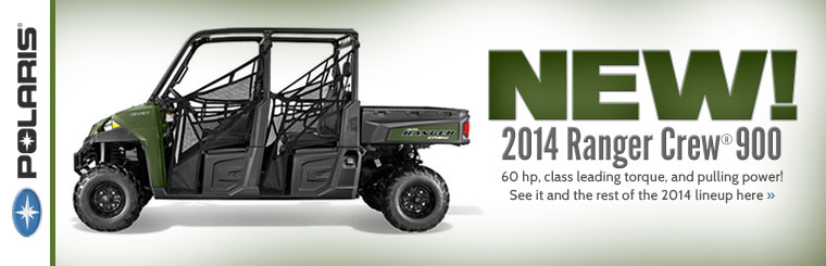 Click here to view the 2014 Ranger Crew? 900 and the rest of the 2014 Polaris lineup.