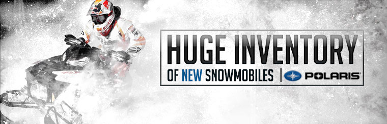 Click here to check out our huge inventory of new Polaris snowmobiles!