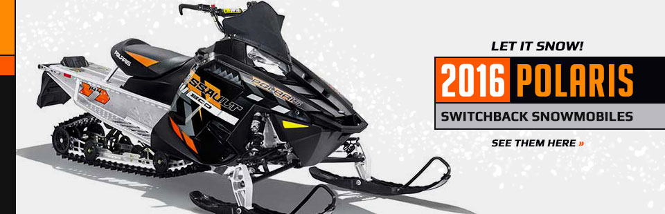 2016 Polaris Switchback Snowmobiles: Click here to view the lineup.