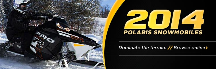 Click here to view the 2014 Polaris snowmobiles.