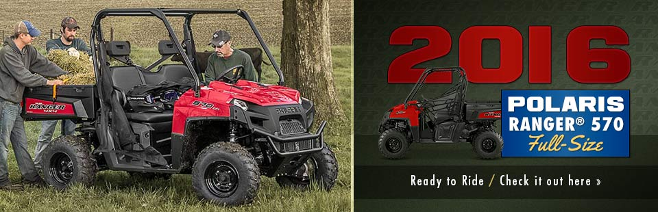 The 2016 Polaris RANGER® 570 Full-Size is ready to ride! Click here for details.