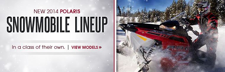 Click here to check out the new 2014 Polaris snowmobile lineup.