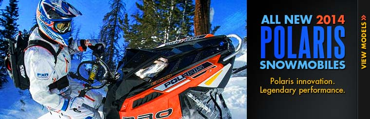 Click here to view the new 2014 Polaris snowmobiles.