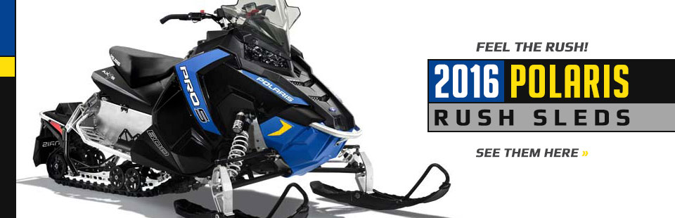 2016 Polaris RUSH Sleds: Click here to view the lineup.
