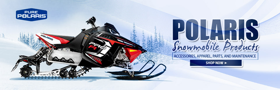 Click here to shop for Polaris snowmobile products online.