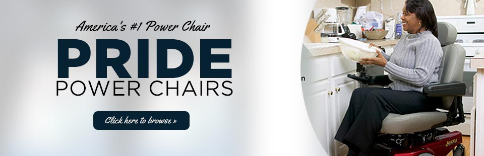 Pride Power Chairs: Click here to browse our selection.
