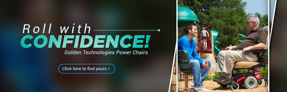 Golden Technologies Power Chairs: Click here to find yours.