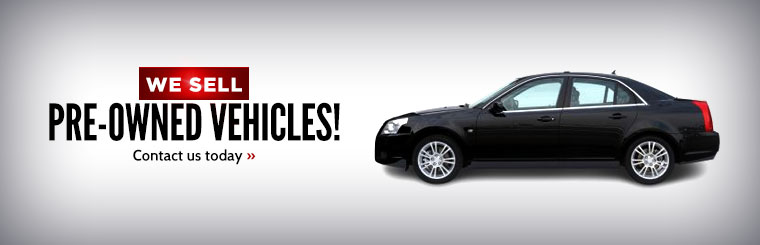 We sell pre-owned vehicles! Contact us today.