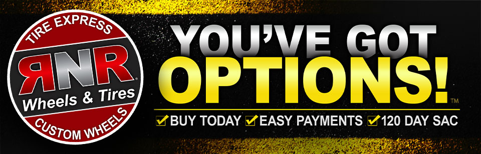 We have great payment options available for tires, wheels, and service!