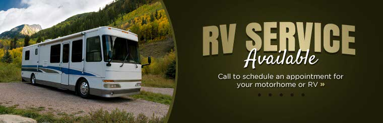 RV service is available! Call to schedule an appointment for your motorhome or RV.