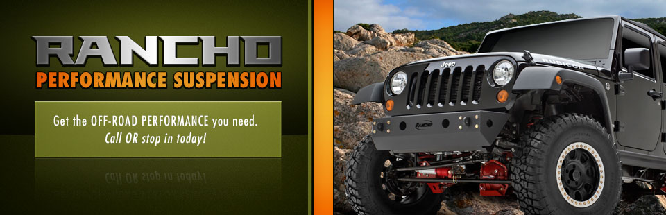 Get the off-road performance you need with Rancho performance suspension.