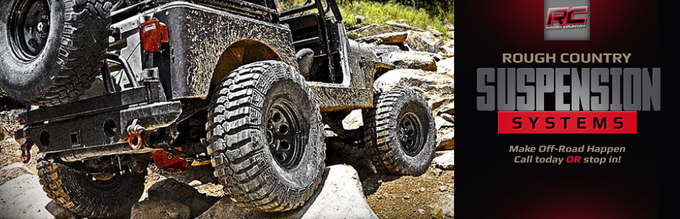 Rough Country suspension systems make off-road happen! Contact us for more information.