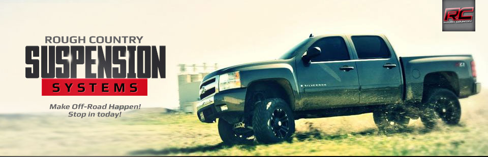 Rough Country suspension systems make off-road happen! Contact us for details.